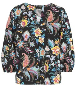 Etro Floral cotton blouse