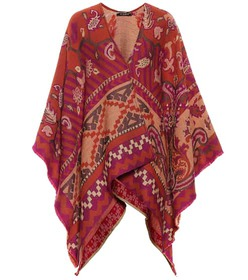 Etro Wool and cotton-blend poncho