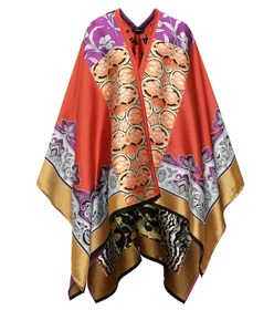 Etro Wool and silk blend poncho