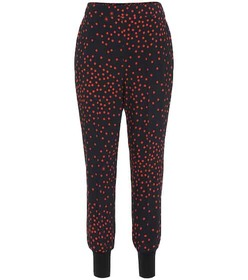 Stella McCartney Polka-dot stretch-crêpe skinny pa