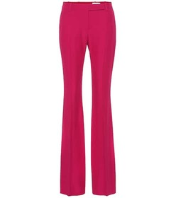 Alexander McQueen Mid-rise flared crêpe pants