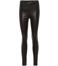 J Brand High-rise leather leggings