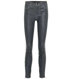 J Brand Mid-rise skinny leather leggings