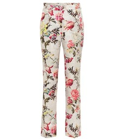 Etro Floral cotton and silk-blend pants