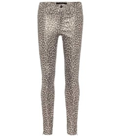 J Brand L8001 mid-rise skinny leather pants