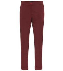 Etro Mid-rise stretch wool straight pants