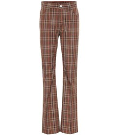 MM6 Maison Margiela Checked wool-blend pants