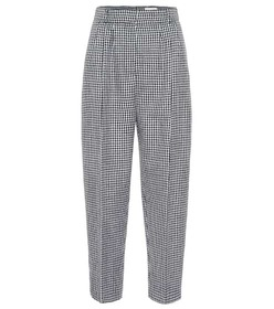 Alexander McQueen Cropped houndstooth wool pants