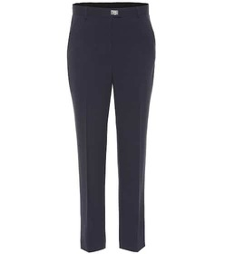 Salvatore Ferragamo High-rise stretch-wool pants