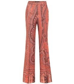 Etro Printed wool and silk pants
