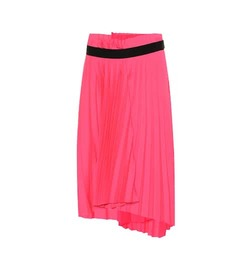 Balenciaga Pleated asymmetric midi skirt