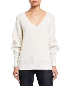 See by Chloe V-Neck Wool Pullover Sweater