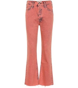 Mother Tripper high-rise cropped bootcut jeans