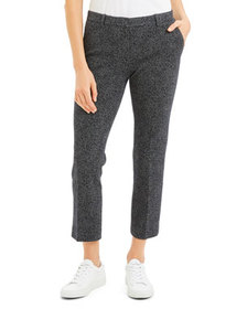 Theory Speckle Knit Cropped Trouser Pants