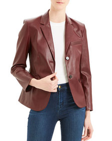 Theory Classic Leather Shrunken Jacket
