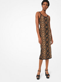 Michael Kors Metallic Python Stretch-Viscose Slip