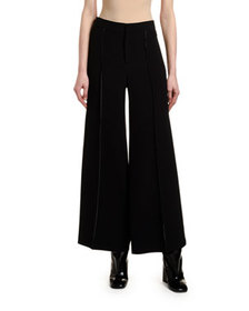 Marni Stitched Jersey Wide-Leg Trousers