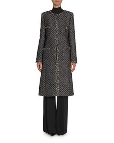 Andrew Gn Embroidered Tweed Coat