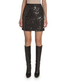 Andrew Gn Sequined A-Line Skirt