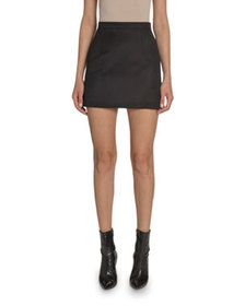 Andrew Gn Wool Mini A-Line Skirt