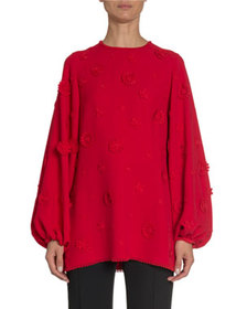 Andrew Gn Scattered Floral Long-Sleeve Tunic