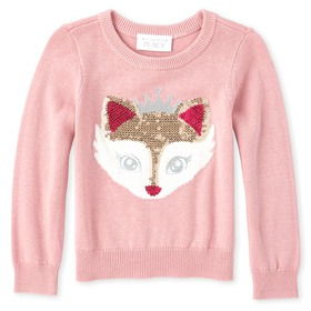 Baby And Toddler Girls Embellished Sweater