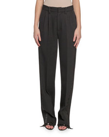 Marc Jacobs (Runway) Pleated-Front Wool Straight-L