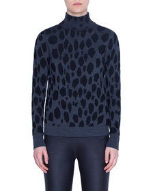 Akris punto Animal-Dot Print Wool Sweater