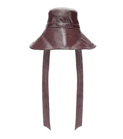 Ganni Patent faux leather hat