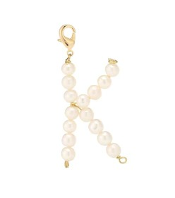 Timeless Pearly Letter K pearl-embellished charm