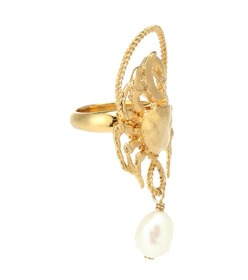 Givenchy Pearl pendant ring