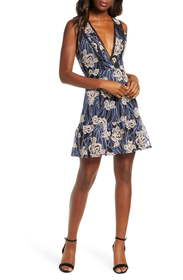 Adelyn Rae Tassia Embroidered Fit & Flare Dress