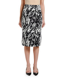 No. 21 Zebra-Print Pencil Skirt