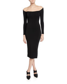Alexander Wang Off-the-Shoulder Illusion Long-Slee