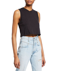 RE/DONE The 70s Cropped Muscle Tank