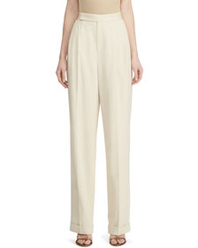 Ralph Lauren Collection Fay Wool Straight-Leg Pant