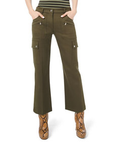 Michael Kors Collection Cotton Twill Cargo Flare P