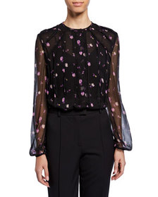 Jason Wu Collection Full-Sleeve Floral-Print Chiff