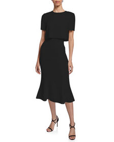 Jason Wu Collection Convertible Soft Crepe Midi Dr