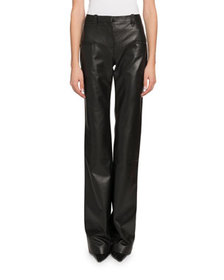 Altuzarra High-Waist Flare-Leg Leather Pants