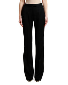 Stella McCartney Tonal Tux-Striped Straight-Leg Pa