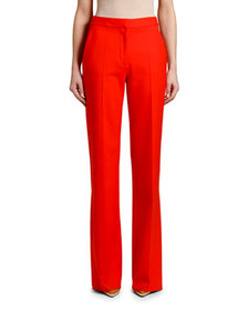 Stella McCartney Wide-Leg Stretch-Wool Pants