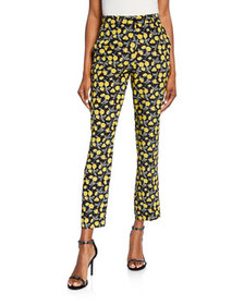 Etro Poppy Print Trousers