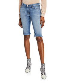 Hudson Amelia Knee-Length Denim Shorts