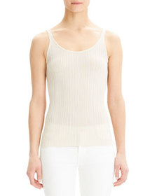 Theory Scoop-Neck Drop Needle Tank
