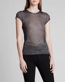 TOM FORD Short-Sleeve Shimmer Jersey T-Shirt