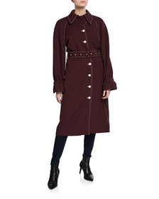 Stine Goya Flo Belted Long Trench Coat