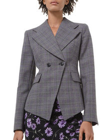 Michael Kors Collection Glen Plaid Pressed Wool Do