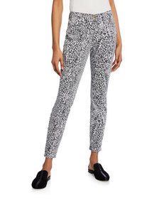FRAME Le High Skinny Printed Jeans