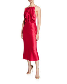 Jason Wu Collection Satin Crepe-Back Ribbon-Trim C
